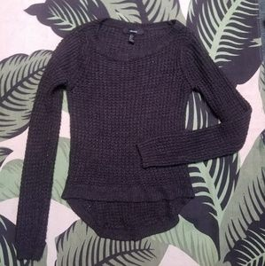 Forever 21 waffle knit pullover sweater crew S